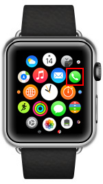 Apple Watchで電話アプリを起動する