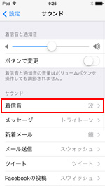iPod touchでFaceTimeの着信音を設定する