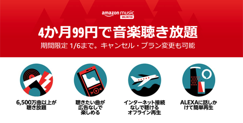 Kindle Unlimited 4か月99円