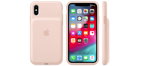 iPhone XS Smart Battery Case ピンクサンド
