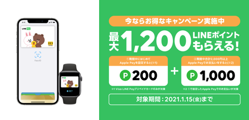 Line Pay Apple Pay キャンペーン