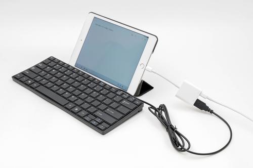 有線 キーボード ipad 【楽天市場】[公式]電池要らず!iPhone/iPad用有線ミニキーボード MFAPKEY4