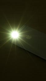 iPhoneのLEDライトが点灯する