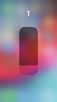 iPhoneのLEDライトを明るくする(暗くする)