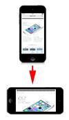 iPhoneで画面の向きを固定する