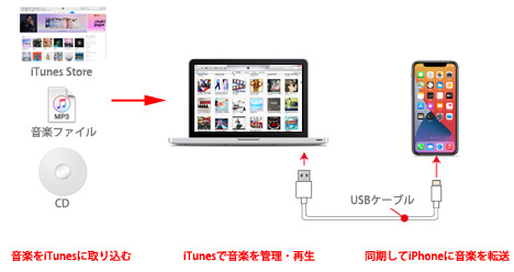 Iphoneへの曲 音楽の入れ方 Iphone Wave